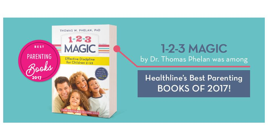 1-2-3 Magic: Effective Discipline For Children named a Best Parenting book of 2017 by Healthline.com